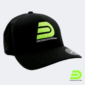 Discgolf Kappe von Discgolf4you aus Flexfit delta in schwarz Profil