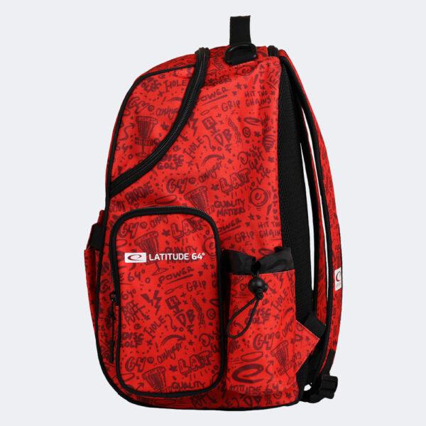 Latitude 64° Discgolf-Rucksack Swift Bag red pattern in rot Seitenansicht