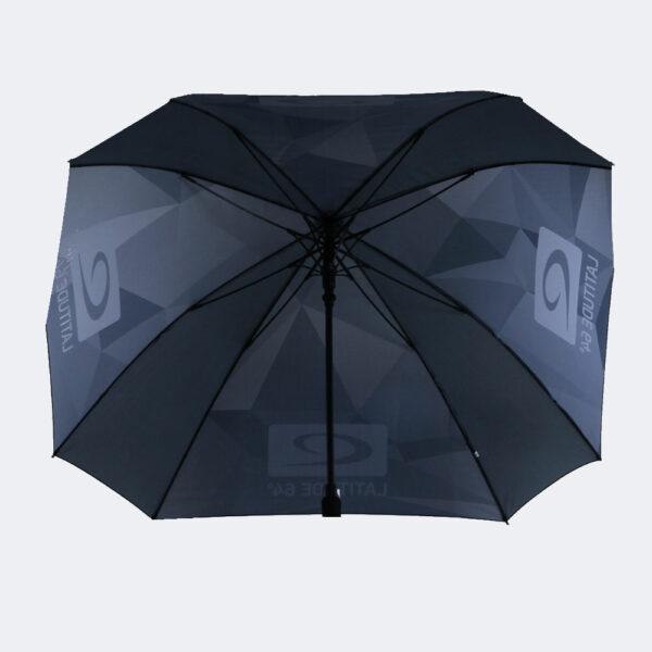 Latitude 64° Regenschirm camo grau offen von unten