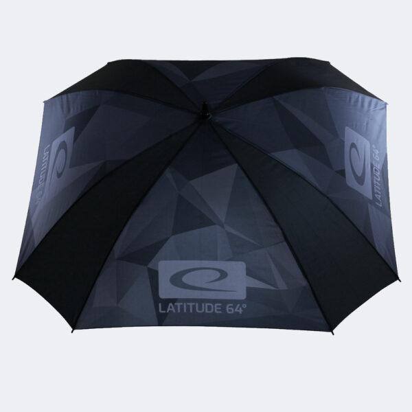 Latitude 64° Regenschirm camo grau offen von oben